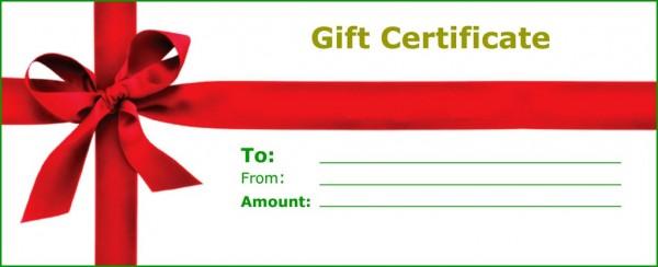 massage gift certificates